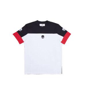 reflex tech t shirt skull negro y blanco