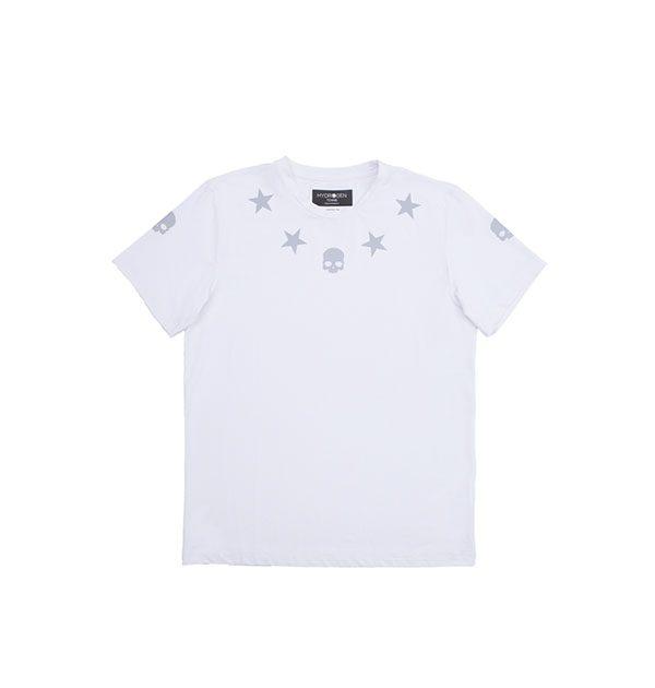 reflex tech t star t shirt skull blanco