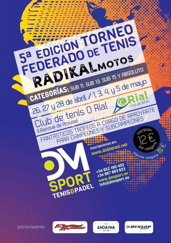 5ª Edición Torneo Federado de Tenis Radikal Motos