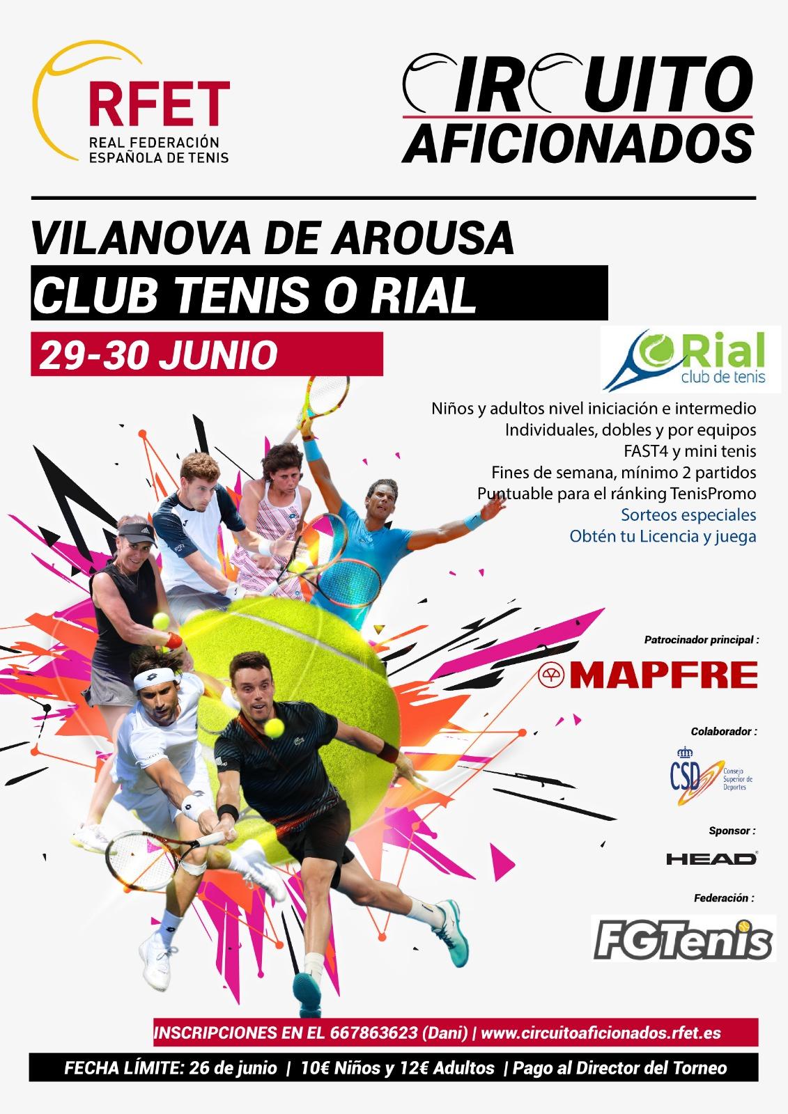 circuito aficionados 2019 Club de Tenis O Rial